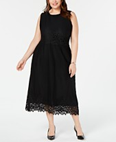 d868361252a Alfani Plus Size Geo-Lace Midi Dress