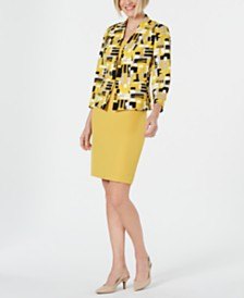 Kasper Printed Blazer & Sleeveless Dress