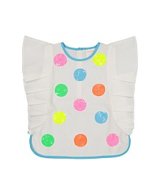 Masala Baby Girls Betty Top Party Dots