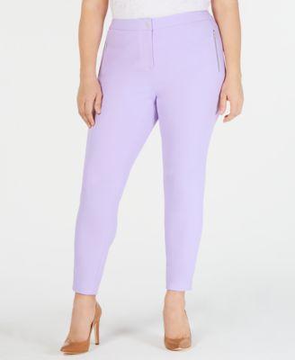 Plus Size Scuba Crepe Pants