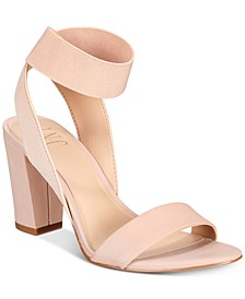 INC Women's Kiernan Stretch Ankle Two-Piece Block-Heel Sandals, Created for Macy's