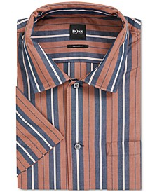 BOSS Men's Ned Relaxed-Fit Striped Shirt