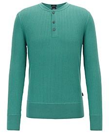 BOSS Men's Fante Slim-Fit Ribbed Sweater