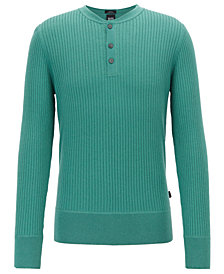 BOSS Men's Fante Slim-Fit Ribbed Sweater
