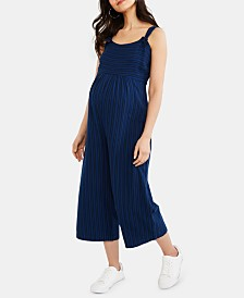 Jessica Simpson Maternity Cropped Wide-Leg Jumpsuit