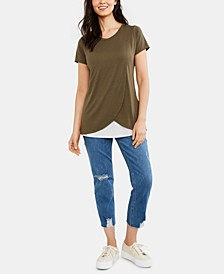 Distressed Post-Pregnancy Skinny Jeans
