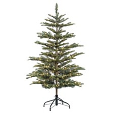 Puleo International 4.5 ft. Pre-lit Arctic Fir Artificial Christmas Tree 250 UL listed Clear Lights