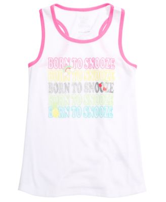 Little & Big Girls Snooze-Print Pajama Tank Top, Created for Macy's