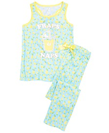 Little & Big Girls 2-Pc. Lemon Pajama Set