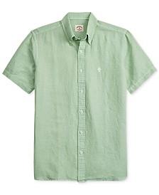 Brooks Brothers Men's Slim Fit Linen Blend Shirt