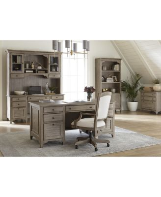 York Home Office, 3-Pc. Furniture Set (Executive Desk, Upholstered Desk Chair & Lateral File Cabinet)