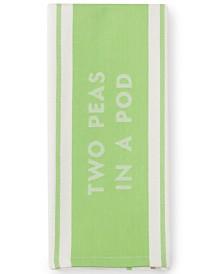 kate spade new york Bistro Stripe Green Kitchen Towel