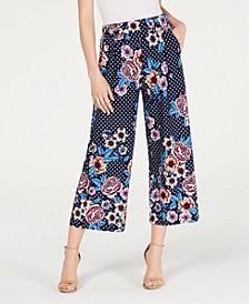 Petite Printed Wide-Leg Pants