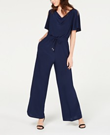 John Paul Richard Petite Flutter-Sleeve Jumpsuit
