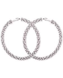 Crystal Pavé Large Hoop Earrings
