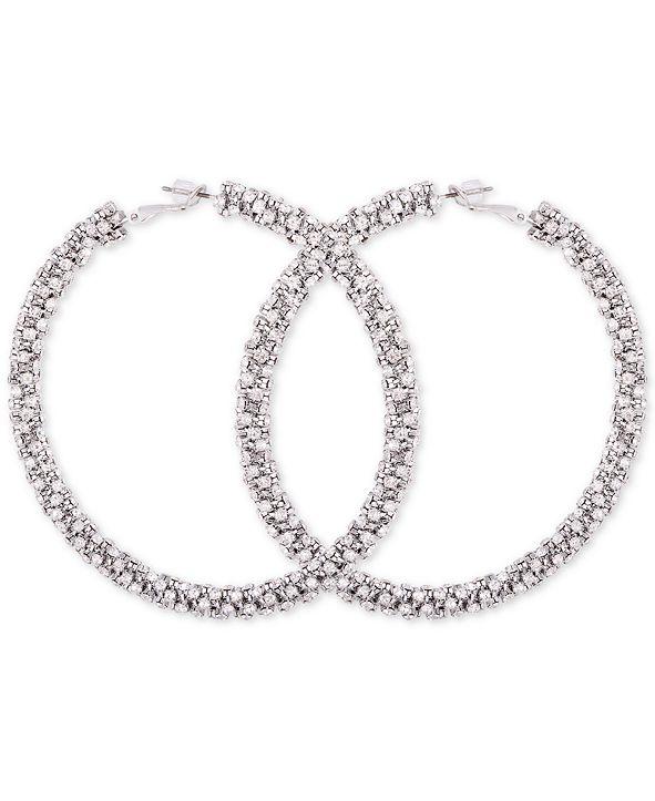 GUESS Crystal Pavé Large Hoop Earrings & Reviews