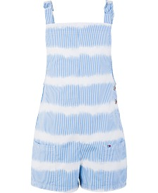 Tommy Hilfiger Big Girls Striped Cotton Romper