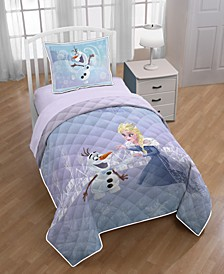 Frozen Elsa Olaf Twin/Full Quilt with Sham