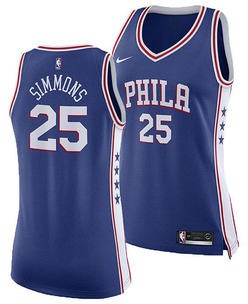 buy online d7ba4 12fb4 Women's Ben Simmons Philadelphia 76ers Swingman Jersey
