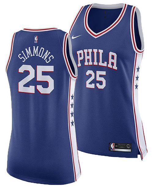 buy online b8b6e 967c5 Women's Ben Simmons Philadelphia 76ers Swingman Jersey
