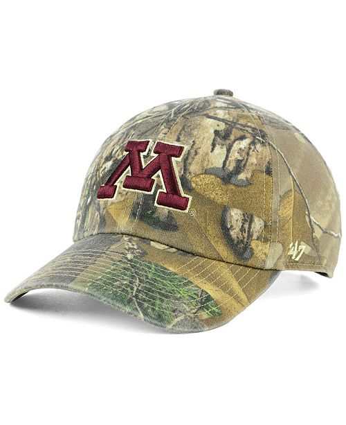 more photos c73e0 85f7d ...  47 Brand Minnesota Golden Gophers Real Tree CLEAN UP Cap    ...