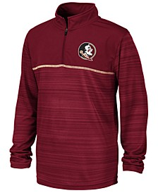 Big Boys Florida State Seminoles Striped Mesh Quarter-Zip Pullover