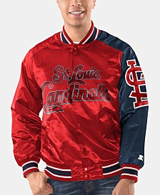 Starter Men's St. Louis Cardinals Dugout Starter Satin Jacket