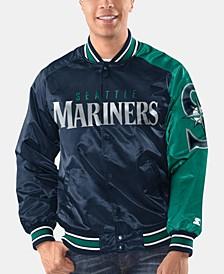 Men's Seattle Mariners Dugout Starter Satin Jacket