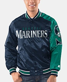 Starter Men's Seattle Mariners Dugout Starter Satin Jacket