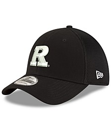 Rutgers Scarlet Knights Black White Neo 39THIRTY Stretch Fitted Cap