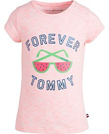 Tommy Hilfiger Little Girls Shades-Print T-Shirt