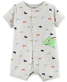 Carter's Baby Boys Cotton Chameleon Romper