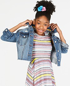 Epic Threads Big Girls Cropped Cotton Denim Jacket, Created for Macy's