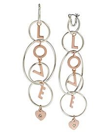 'LOVE' Multi Ring Chandelier Earrings