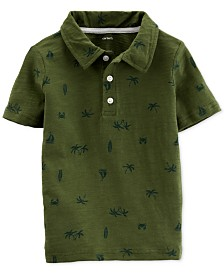 Carter's Toddler Boys Beach-Print Cotton Polo