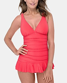 Profile by Gottex Ruffled D-Cup Swimdress