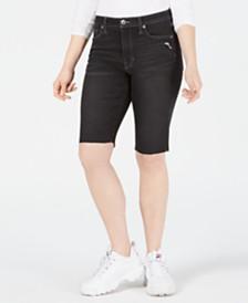 Kendall + Kylie Frayed-Hem Bermuda Shorts