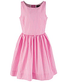 Polo Ralph Lauren Big Girls' Checkered Fit-and-Flare Dress, Created for Macy's