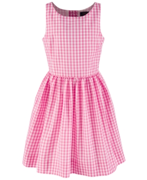 Kids 1950s Clothing & Costumes: Girls, Boys, Toddlers Polo Ralph Lauren Big Girls Checkered Fit-and-Flare Dress Created for Macys $24.93 AT vintagedancer.com