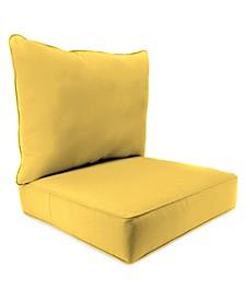 Outdoor 2-Piece Deep Seat Chair Cushion - 1 pack