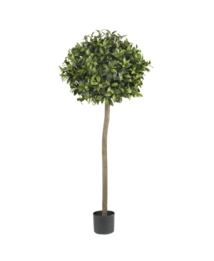 Nearly Natural 5' Sweet Bay Ball Topiary Faux Silk Tree