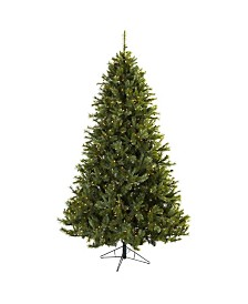 Nearly Natural 7.5' Majestic Multi-Pine Christmas Tree w/Clear Lights