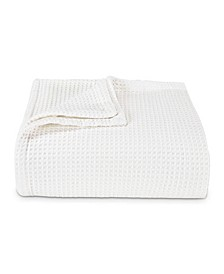 Waffleweave White Blanket, Full/Queen