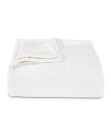 Vera Wang Waffleweave White Blanket, Full/Queen