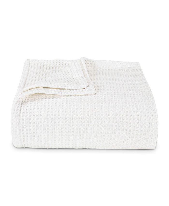 Vera Wang - Waffleweave White Blanket, Full/Queen
