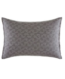 Vera Wang Burnished Quartz Dark Grey Stitched Breakfast Pillow