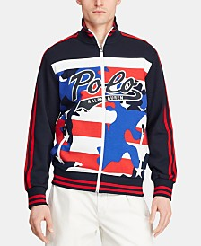 Polo Ralph Lauren Men's Logo Double-Knit Track Americana Jacket, Created for Macy's