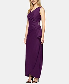 Petite Embellished Cascade Gown