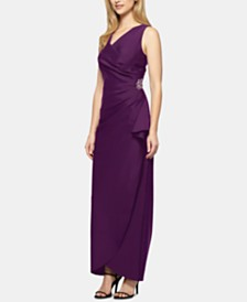 Alex Evenings Petite Embellished Cascade Gown