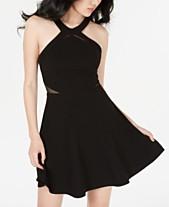 85393fe62bb2 B Darlin Juniors' Illusion-Detail Fit & Flare Dress